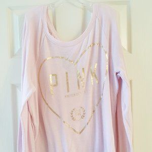 VICTORIA'S SECRET PINK Sweater Tee Shirt M L/S